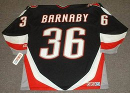 Wholesale MATTHEW BARNABY Buffalo Sabres CCM Throwback Ice Hockey Jersey Name Number All Stitched Best Quality Size M XXXL