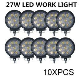 Wholesale Hot sale w LED Work Light V V IP67 Spotlight Fog Light Off Road ATV Tractor Train Bus Boat Floodlight x4 UTV
