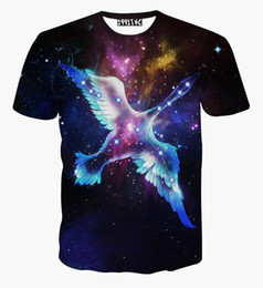 tshirt Galaxy t-shirt for men 3d t-shirt funny print flying stars swan short sleeve t shirt summer tops tees