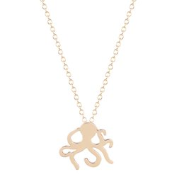 10pcs lot Simple Infinity Dainty Cute Octopus Charm Necklace Pendant Collares Personality Jewelry Gift Necklace for Girls and Women