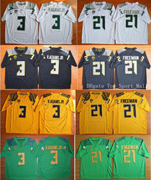 Wholesale Oregon Ducks College Jerseys Football V Adams Vernon Adams Jr Royce Freeman Kenjon Barner All Stitched Green Yellow Black White