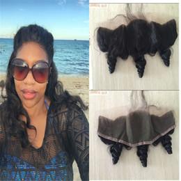 Lace Frontal Closure Peruvian Hair Loose Wave Full Frontal Lace Closure 13x4 Bleach Knots Lace Frontal