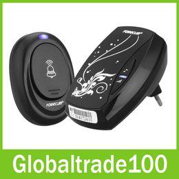 Wholesale Forecum Remote Control Wireless Digital Doorbell Door Bell EU US Plug Free DHL shipping