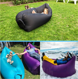 Wholesale Lamzac Air Filling Sleep Bag Instantly Inflatable Hangout Lounge Chair Sofa Air Sofa Bag