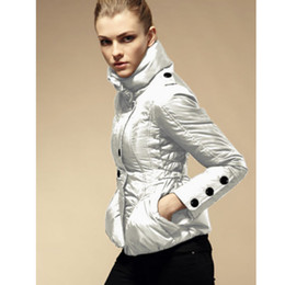 Winter Women Jackets Fashion Sport Style French Brand Stand Collar Slim Lace Ladies Parka Outdoor Women Clothing