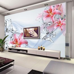 Modern minimalis Wallpaper Bedroom Wall Murals Lily Water flower Photo Wallpaper Nursery Art Room decor living room Hotel TV background wall