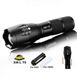 Wholesale G700 E17 CREE XML T6 High Power LED Torches Zoomable Tactical LED Flashlights torch light for AAA or x18650 battery New