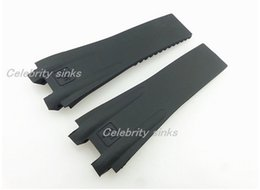 27mm NEW High quality Rubber Black Diver Watch Strap Band