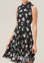 Floral Flower Print Women A-Line Dress Sleeveless Casual Dresses 038804