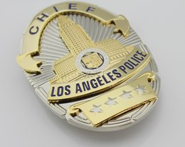 Los Angeles Police Department (LAPD) metal Badge (Replic) - chief