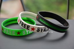 Wholesale 100pcs Syria Free Syria Syrian Revolution independence Flag Silicon Wristband