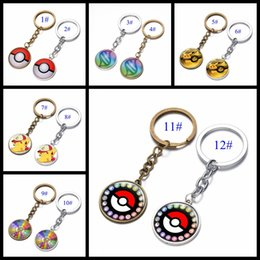 Canada Vente en gros 12 Styles Pocket Cartoon Pikachu Pokémon Figurines d'action Poke Boule Anime Keychain Porte-clés Pendentif Halloween / cadeaux de Noël cheap christmas figurines wholesale Offre