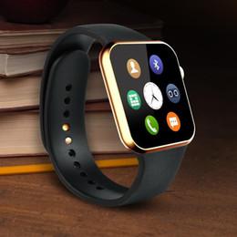 2017 apple iphone montres intelligentes 2015 Nouveau Smartwatch A9 Bluetooth Smart Watch pour Apple iPhone Samsung Android Téléphone relogio intelligent reloj smartphone montre en stock peu coûteux apple iphone montres intelligentes