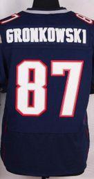 Wholesale Men s Elite Jersey Tom Brady Julian Edelman Rob Gronkowski Malcolm Butler Jimmy Garoppolo Blue White Red Jerseys