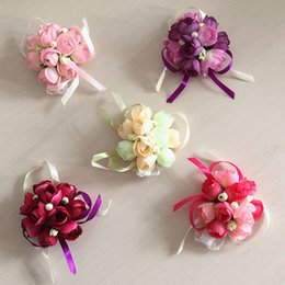 Wholesale The Wedding Celebration Supplies the Bride Wrist Flower Corsage Cloth Art is the Maid of Honor Sister Hand Korean Wedding Simulation Flower