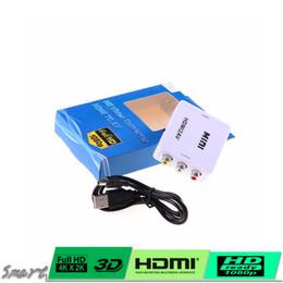 Mini HDMI2AV Entrée HDMI vers convertisseur de sortie AV HDMI Entrée numérique vers RCA Convertisseur audio / vidéo analogique composite CVBS Convertisseur / AVH rca video digital promotion à partir de vidéo numérique rca fournisseurs