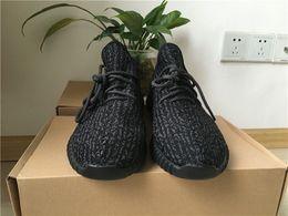 Kanye 350 Boost for Men and Women Running Shoe 2016 Kanye Fashion Black 350 Boots Shoes Sneaker Summer Footwear 36-47