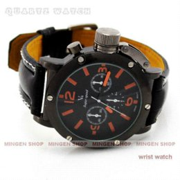 Montre homme v6 à vendre-Hot Sale luxe noir Strips Hour Marks Vogue V6 sport Quartz Hommes d'affaires montre-bracelet