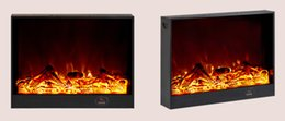 Wholesale Mini Infrared Fireplace Electric lifezone Wall Mounted Glass Electric Fireplace w Built In Watt Heater Realistic LED Flames