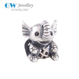 Wholesale 5 pieces elephant baby charms S925 sterling silver fits for pandora style S102H5