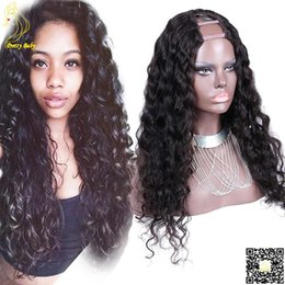 Long Deep Wave U Part Wig Brazilian Human Hair UPart Wigs Loose Wave U Shaped None Lace Wig Middle Part Human Hair Wigs