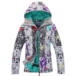 Wholesale-Gsou Snow High Quality Women Ski Jacket Windproof Waterproof Winter Snowboard Jackts Warm Breathable Ski Suit Woman Clothes