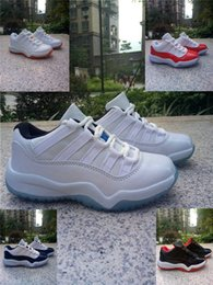 Wholesale 2016 new XI Retro Low GP Citrus Kids basketball shoes XI Legend Blue Columbia Grade School boy and girl low Athletic Shoes
