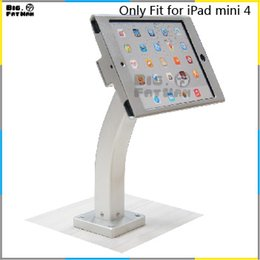 Wholesale Fit for iPad mini wall mount aluminum metal case bracket Security display kiosk POS table lock holder for tablet