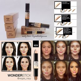Wholesale NYX Wonder Stick Concealer Eye Face Makeup Cover Women Med Tan Highligher Colors iN Box DHL Free