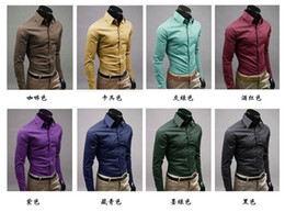 high quality -2016 NEW arrived men's Long-Sleeve Shirt explosion of men high quality 17 color 5 size 6492Wholesale