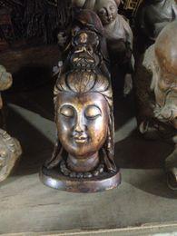Wholesale China ancient rock carvings of avalokitesvara head Buddha statues