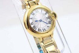 Luxury Male Yellow Stainless Steel Watches Ball Golden woMens Brand Fashion Sytyle Quartz Wristwatch Modern Dress Ladies Sport Watch