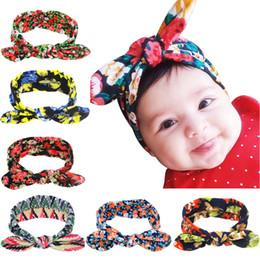 2017 accessoires de cheveux pour les bébés filles 13 couleurs Baby Girl Floral Turban Bandeau Head Wrap Band Hair Avec Lapin Ear Enfants Cheveux Archets Accessoires cheveux accessoires de cheveux pour les bébés filles ventes