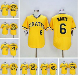 Wholesale 2016 New Starling Marte Polanco Andrew McCutchen Jung Ho Kang Gerrit Cole Gold Stitched Jersey