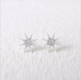 Wholesale 2016 women fashion star anise star Snow White gold plated earrings package mail women festival best gift for free