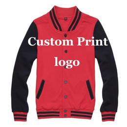 Wholesale Fall Custom Baseball Jacket Print Customized Printing Logo Creat Made DIY Logos Silk Screen Print Embroidery Digital print Unisex