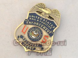 Wholesale The United States FUGITIVE RECOVERY AGENT film props fugitive chase Bounty Hunter Metal Badge