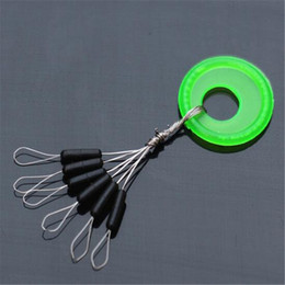 Wholesale 100Pcs Space Beans Connector Swivel Fishing Float Accessories Tackle Float Seat Block