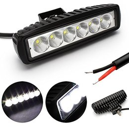 12V 24V 6 inch 18W Spotlight Floodlight car Tractor Truck SUV boat 4X4 4WD Jeep Offroad driving LED work light bulbs bar