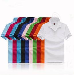Wholesale LJJG338 POLO T Shirt Summer Unisex Men Women Loose Short Sleeve Turn Down Collar Casual Cotton Solid Color Shirt M XL