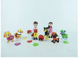 Wholesale 8 PAW Dog Doll Patrolling Collection FIGURE Toys cm Kids Toys For Boys Girls Gift