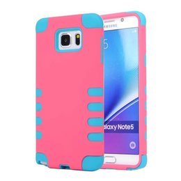Wholesale 2016 New Fashion Luxury PC silica gel Hard Cover Case Phone Case For Samsung note5 amp S6 edge plus