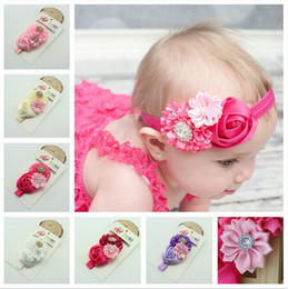 Fashion Baby Hair Accessories rose Flower elastic headbands Girls Hair Band Kids Headband Babies Toddler Head Band