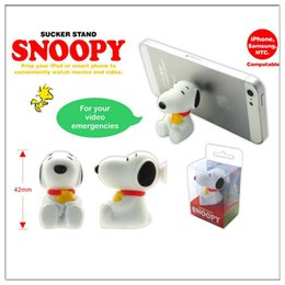 Wholesale Snoopy phone Stand chuck bracket The silicone cartoon phone support Universal The lazy mobile phone holder