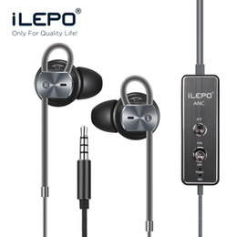 Wholesale i20 Active Noise Cancelling Earphone Headphones Stereo Decrease Environment Noise DB With Micphone for Any Mobile phones for iPhone Device