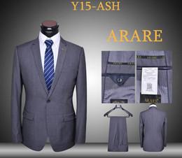 Slim fit suits latest coat and pants 2 piece blue black ash uniform dressing blazers daily suits set one button tuxedos