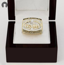 Wholesale factory sales Wooden Boxes with Los Angeles RAMS Replica Super Bowl Copper Championship Ring