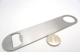 Wholesale pc Large Flat Design Stainless Steel Speed Bottle Cap Opener Remover Bar Can Bottle Opener