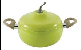 Wholesale cm Kitchen non stick pan funny pear shape soup pot aluminum alloy enamel gas amp induction cooking pots