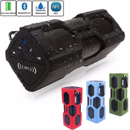 Wholesale Waterproof Bluetooth Speaker NFC mAh Power Bank Shockproof Stereo Wireless Player Bicycle Cycling Audio Sound Subwoofer Box D Surround